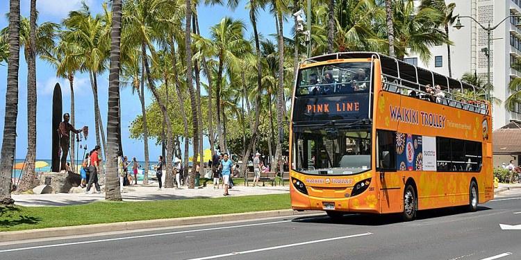 Waikiki Trolley. Island of Oahu