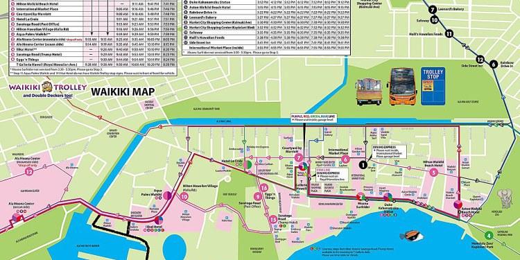 Waikiki Trolley Map