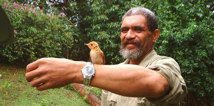 Birdman George, Atiu, Cook Islands