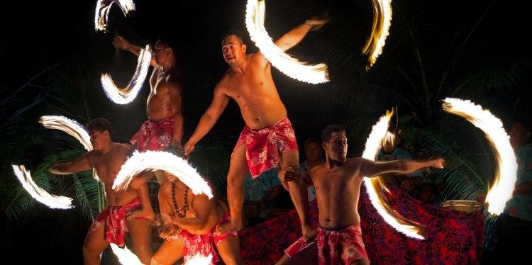 Tamanu Beach, Beach Fire Dance, Aitutaki, Cook Islands