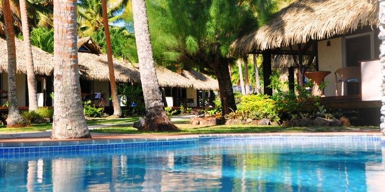 Tamanu Beach, Swimming Pool, Aitutaki, Cook Islands